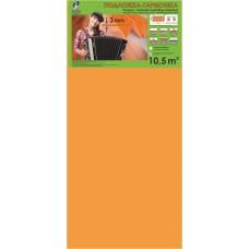 Подложка-гармошка Солид Оранжевая 10,5м2